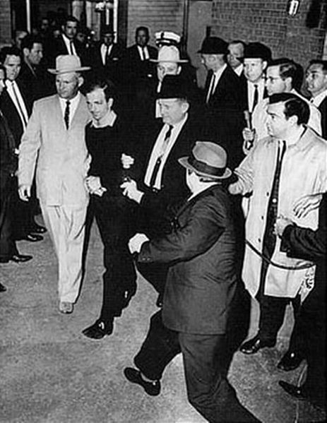 463px-Lee Harvey Oswald being shot by Jack Ruby as Oswald is being moved by police 1963