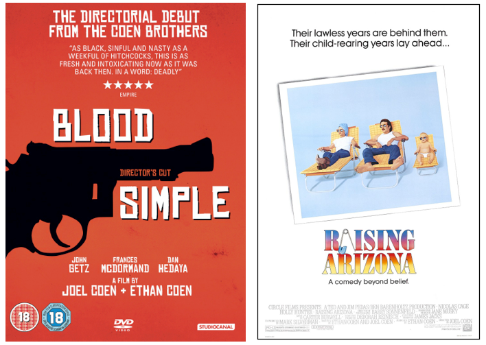 Blood Simple Raising Arizona Coen Bros