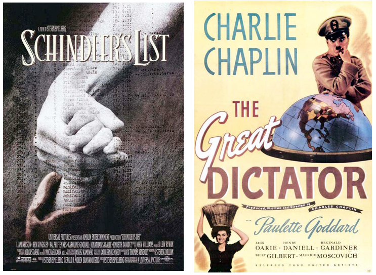 Schindlers List and The Great Dictator