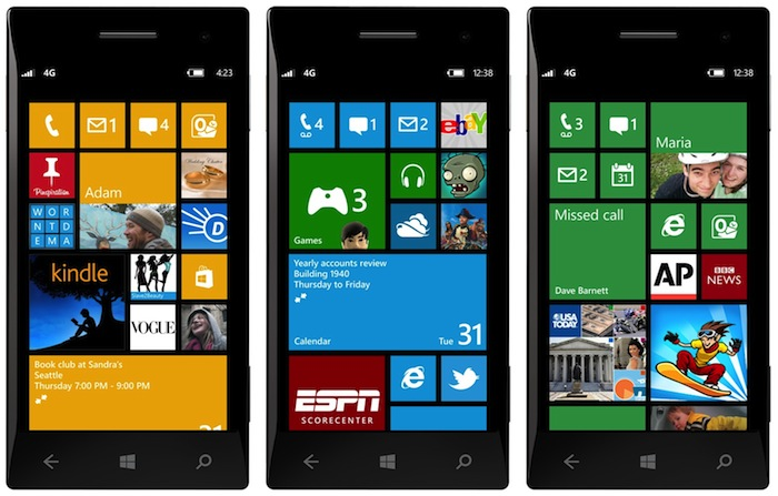 the new windows-phone-8-start-screens
